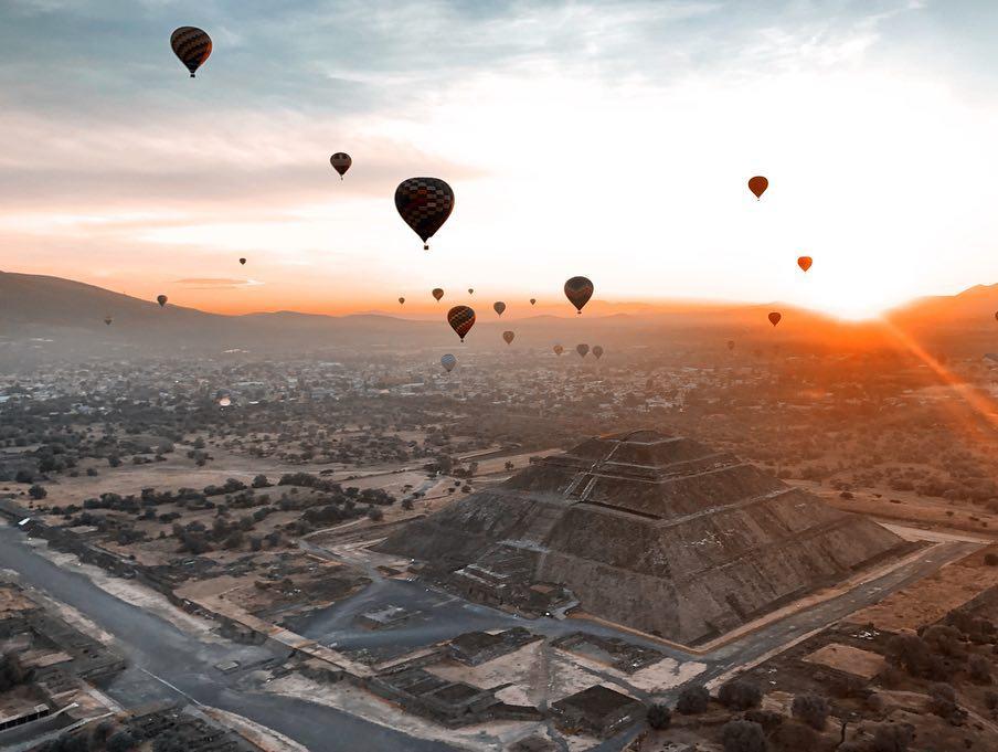 Vuelo Amanecer en Teotihuacán